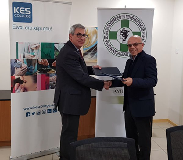 Μνημονίου Συνεργασίας μεταξύ KES College και Σωματείου Ιατρικών Επισκεπτών Κύπρου