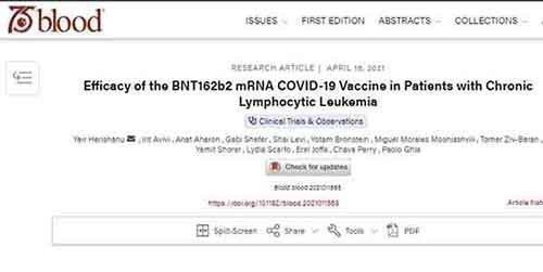 Τα εμβόλια Covid-19 παρέχουν μειωμένη προστασία σε μερικούς ασθενείς με καρκίνους του αίματος