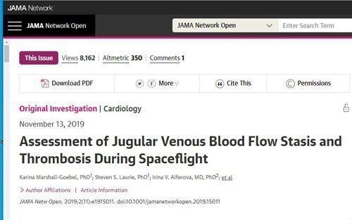 Έρευνα: Παρατηρήθηκε αντιστροφή στη ροή του αίματος και δημιουργία θρόμβων σε αστροναύτες