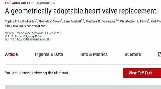 Η πρώτη προσαρμοζόμενου μεγέθους βαλβίδα καρδιάς, που μεγαλώνει μαζί με το παιδί