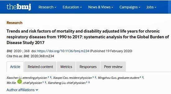 Αυξήθηκαν σημαντικά οι θάνατοι και οι αναπηρίες λόγω χρόνιων παθήσεων των πνευμόνων