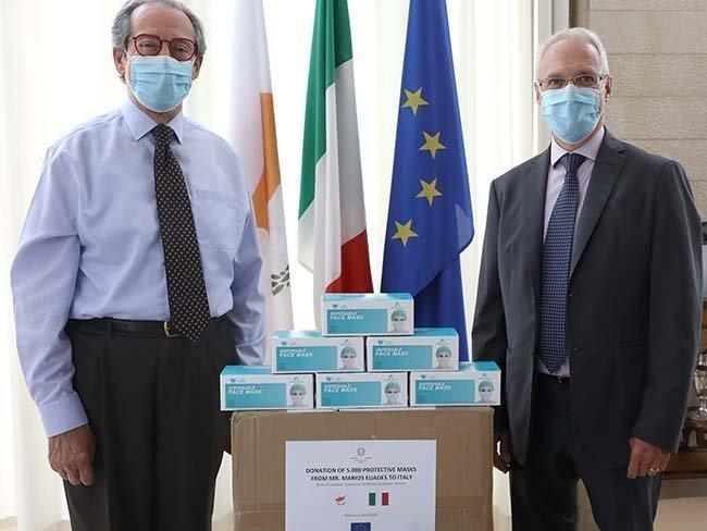 5.000 προστατευτικές μάσκες ως ένδειξη αλληλεγγύης προς τον ιταλικό λαό