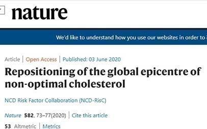 Τα επίπεδα χοληστερίνης μειώνονται σταδιακά στις ανεπτυγμένες δυτικές χώρες, αλλά αυξάνονται στις φτωχότερες